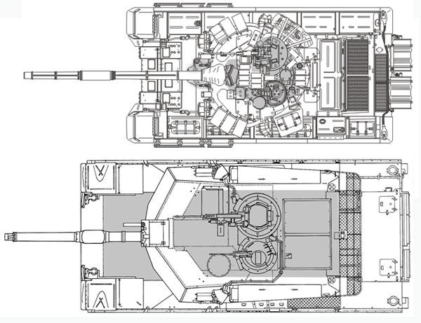 танка Т-90 и «Абрамс».