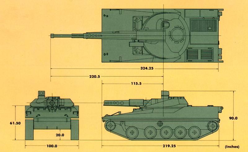 دبابة RDF / LT ARES خفيفة الوزن Shema1